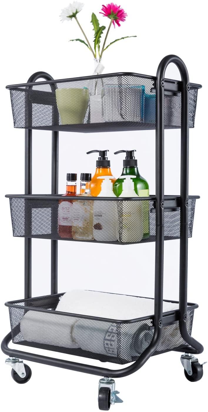 DESIGNA-3-Tier-Rolling-Utility-Cart-Storage