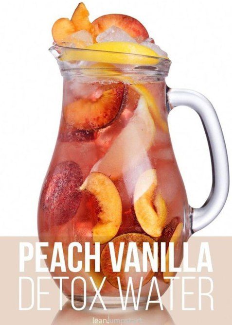 fitter past forty peach vanilla detox water