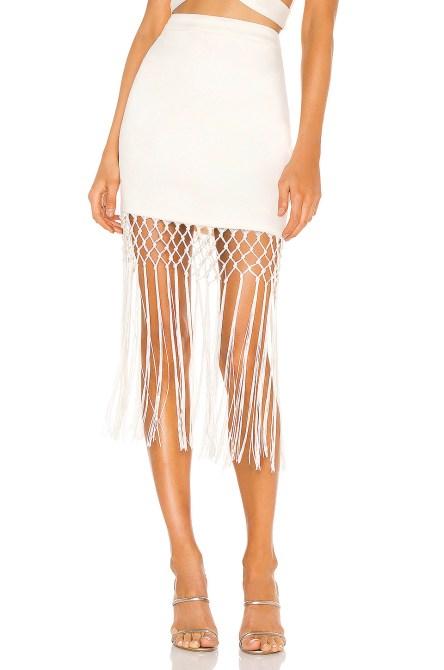 STYLECASTER | Coachella Fashion Trends 2020 | fringe skirt