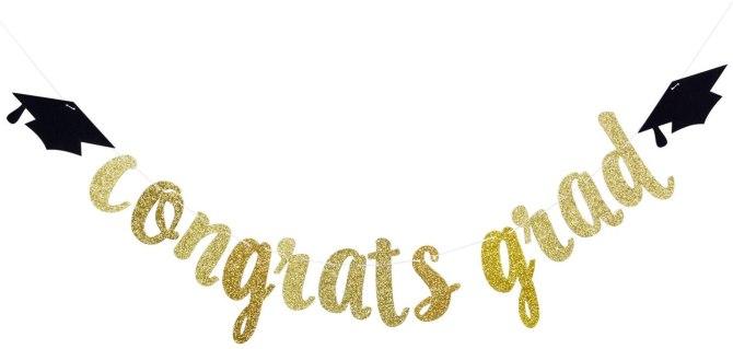 STYLECASTER | Virtual Graduation Ideas 2020 | congrats grad banner