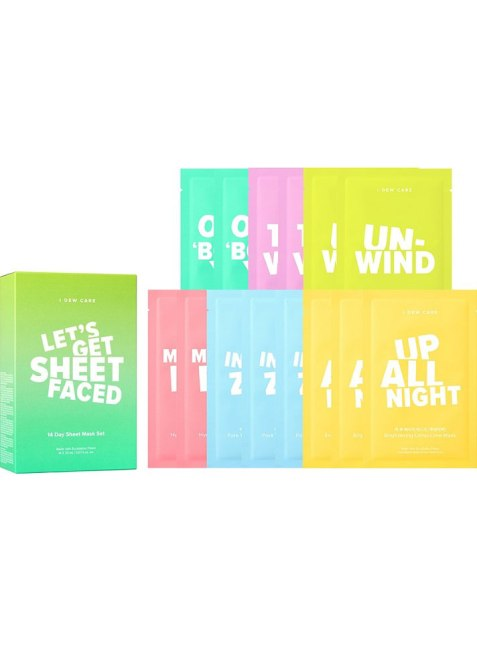 I Dew Care Let's Get Sheet Faced Sheet Mask Set