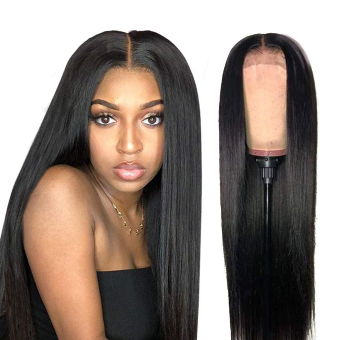 ISEE Transparent 13x4 Lace Brazilian Straight Glueless Wig