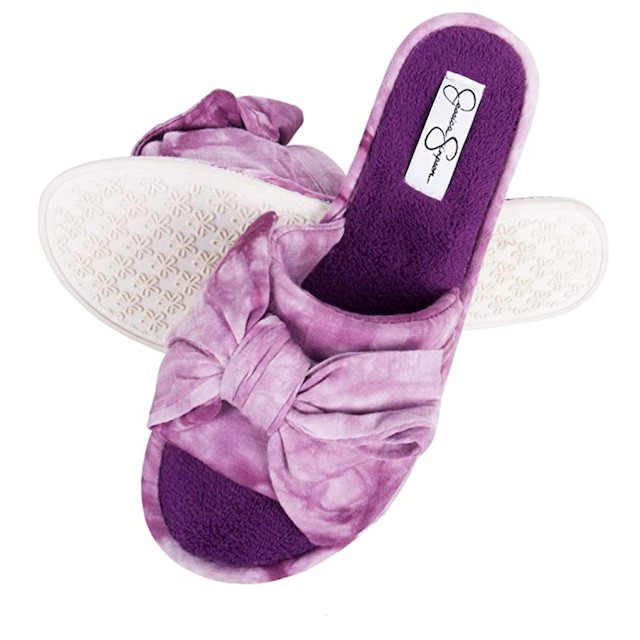 Jessica Simpson Womens Plush Open Toe Slide