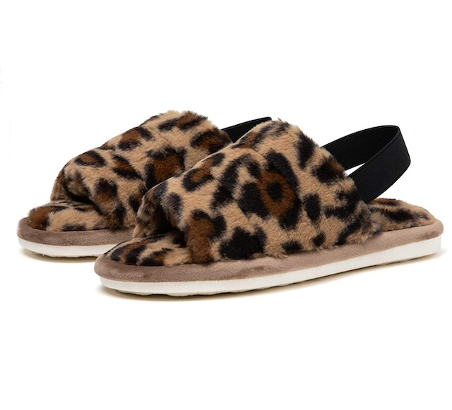 katliu Women's Fluff Slippers