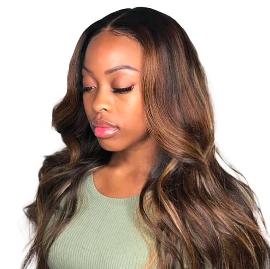 Max Glam Highlight Color 13 x 6 Silky Straight Lace Wig