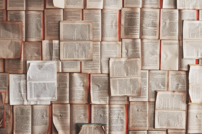 STYLECASTER   Zodiac Signs Zoom Background   pile of books