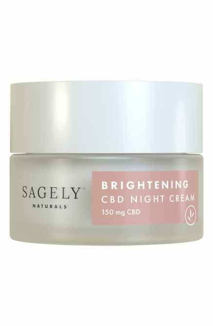 sagely naturals brightening cbd night cream 13 Actually Legit CBD Skincare Products I Love
