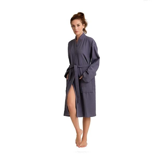 Soft Touch Linen 100% Turkish Cotton Women's Robe