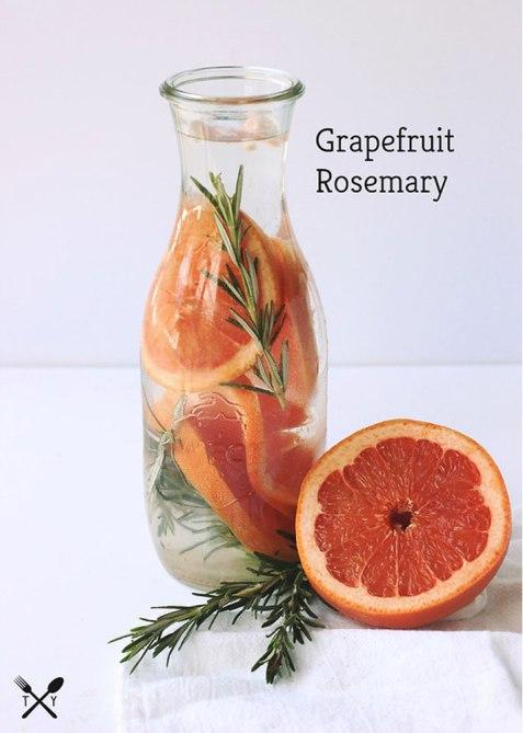 Tasty Yummies Grapefruit Rosemary Water