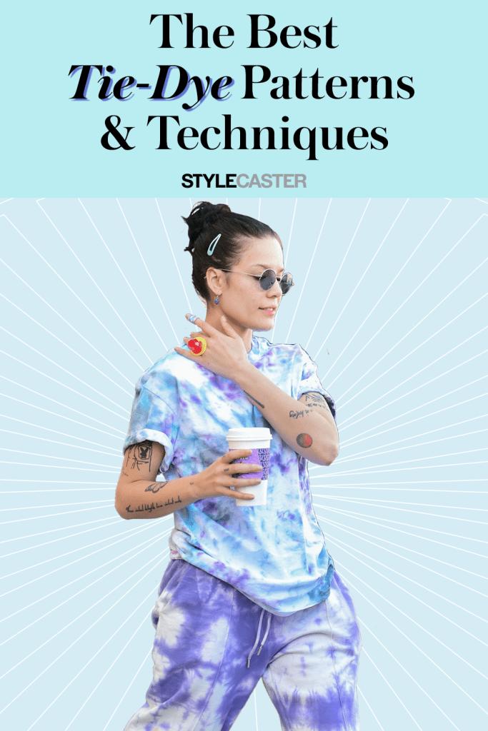 STYLECASTER | tie dye | DIY tie dye | tie dye patterns | tie dye techniques | tie dye shirts | how to tie dye | tie dye patterns DIY | tie dye sweatpants