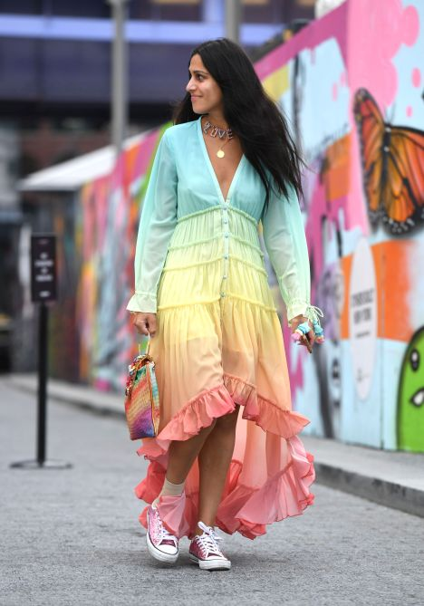 STYLECASTER | Coachella Fashion Trends 2020 | tiered dress trend