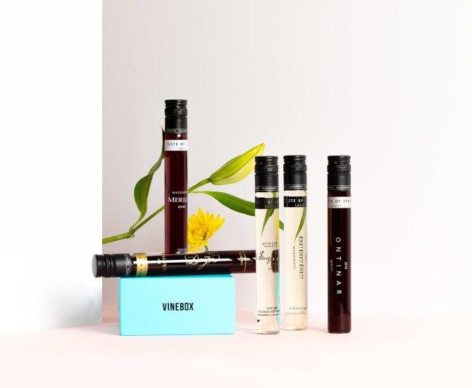 Vinebox mini wine bottles