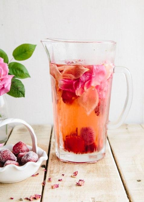 Wallflower Kitchen Rose Lemon Strawberry Water