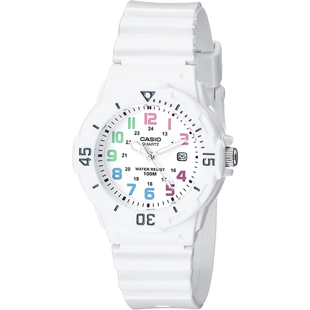 womens sports watch casio These Women's Sport Watches Track Your Physical Performance the Old School Way