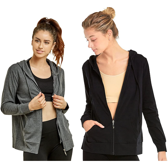 zip up hoodies sofra Classic Zip Up Hoodies for Women to Lounge Around Or Run Laps In