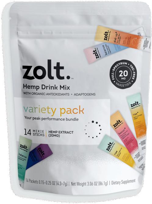 STYLECASTER | Best CBD Drinks | Zolt Mixie Sticks