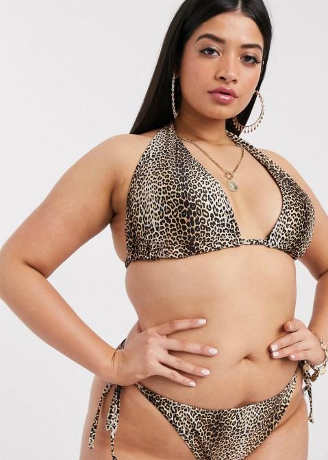 STYLECASTER | String Bikini Trend | animal print bikini