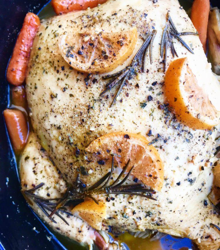 STYLECASTER | gluten-free slow cooker recipes | rosemary lemon chicken