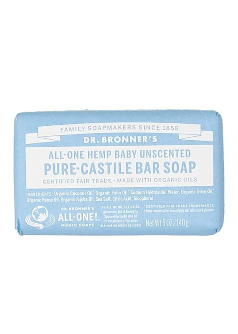 Dr. Bronners Baby Unscented Castile Bar Soap