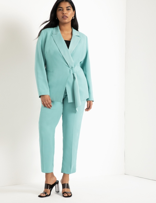 STYLECASTER | Summer 2020 Fashion Trends | eloquii teal suit