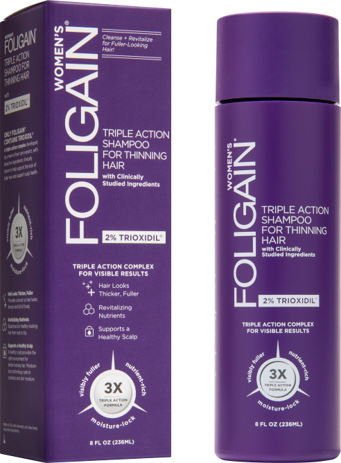 foligain triple action shampoo