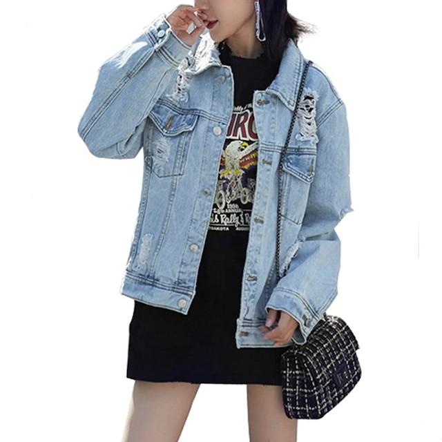 JUDYBRIDAL Oversize Denim Jacket for Women