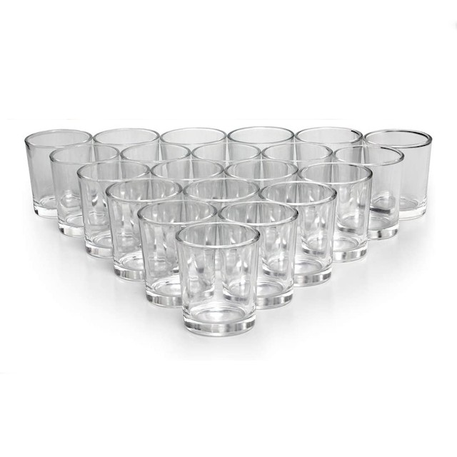 LETINE Glass Votive Candle Holders