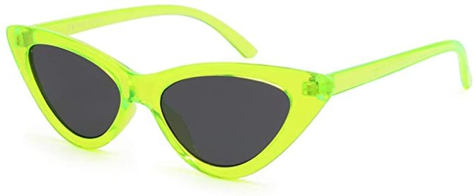 STYLECASTER | Summer 2020 Fashion Trends | livho neon green sunglasses