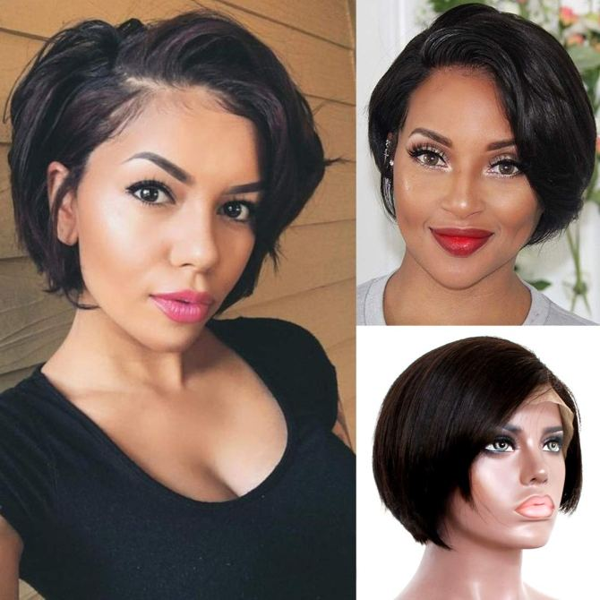 Liwihas 13x4 Lace Pixie Cut Wig