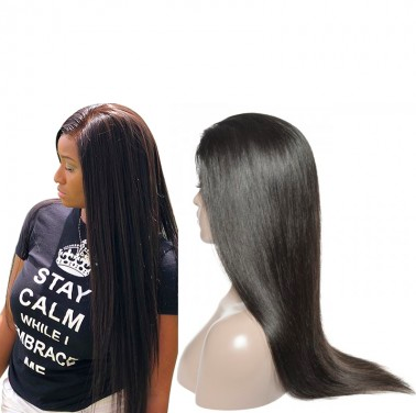 New Star Virgin Hair Straight 4*4 Closure Wig Glueless Lace Front Wig