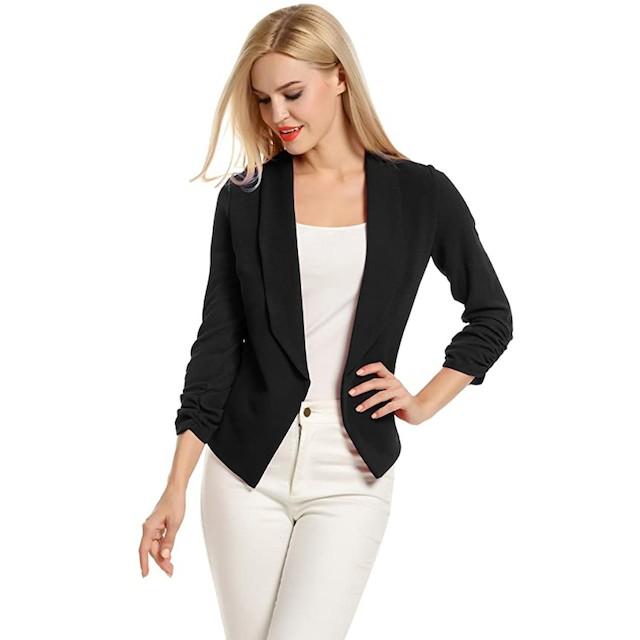 POGTMM Women 3/4 Sleeve Blazer
