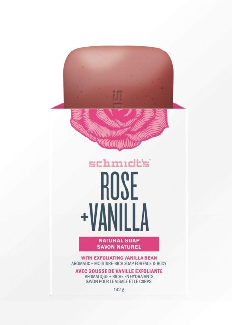 Schmidt's Rose + Vanilla Natural Bar Soap