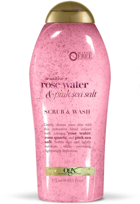 sensitive rose water   pink sea salt scrub   wash 39 New Drugstore Beauty Products to Grab On Your Next Errand Run