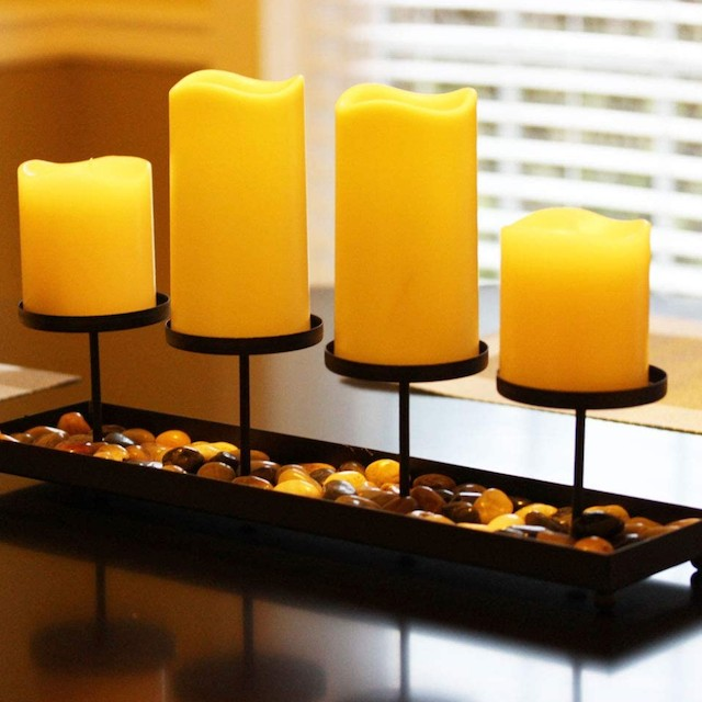 Seraphic Iron 4 Pillar Table Candle Holder