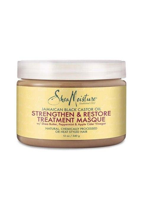 SheaMoisture Maschera di trattamento rinforzante e rigenerante con olio di ricino nero giamaicano