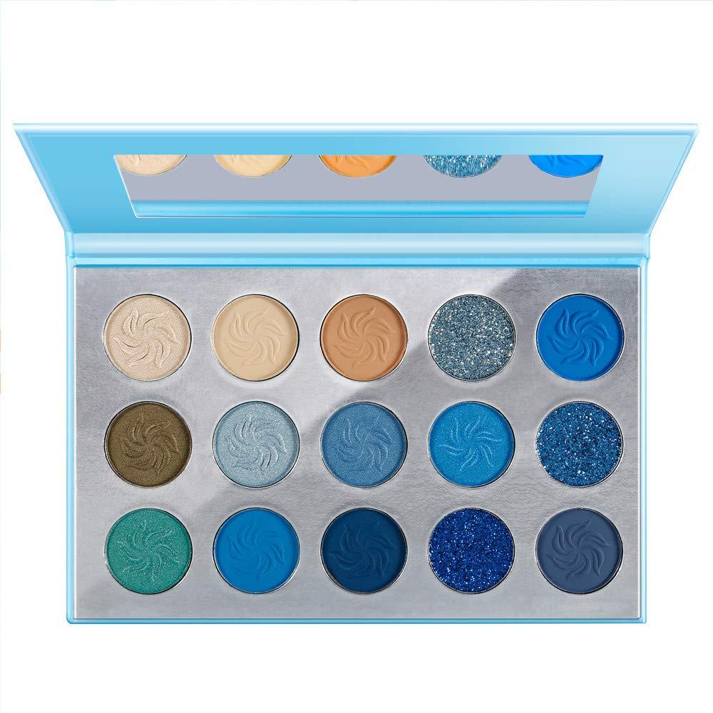 De'Lanci space blue eyeshadow palette