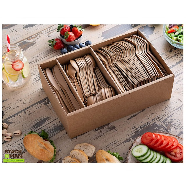 Stack Man Disposable Cutlery Set