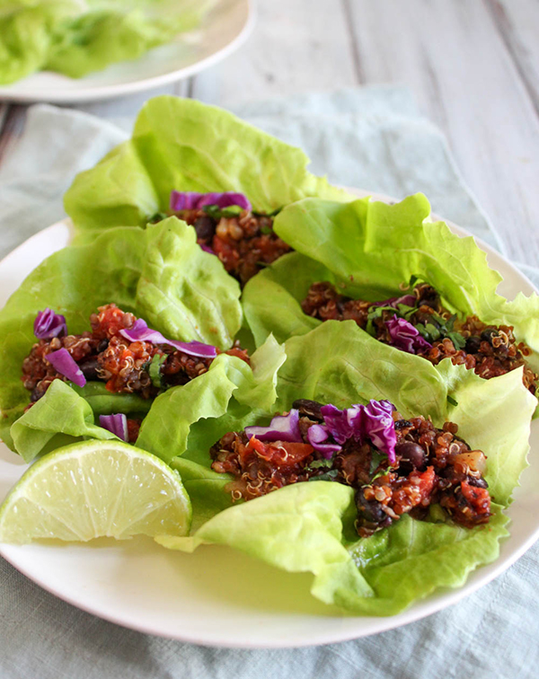 STYLECASTER | gluten-free slow cooker recipes | vegetarian taco lettuce wraps