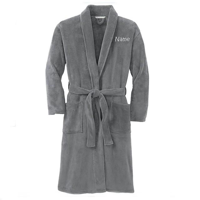 Monogrammed Me Personalized Plush Microfleece Robe
