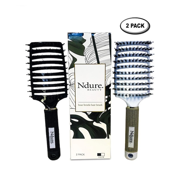 Curved Vented Boar Bristle Styling Hair Brush