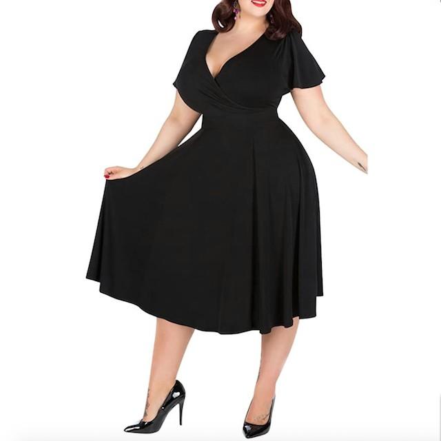 Nemidor Women's V-Neckline Stretchy Casual Dress