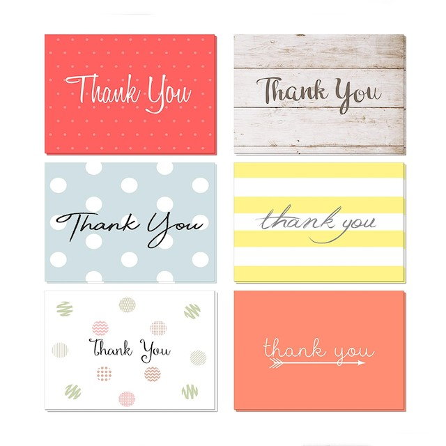 Oaklyn Thank You Cards Set