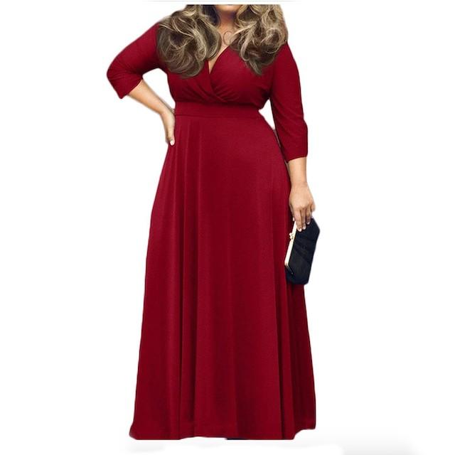POSESHE Women's Solid Evening Dress