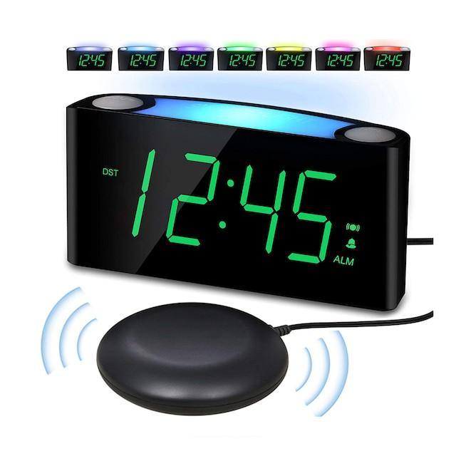 PPLEE Vibrating Loud Alarm Clock