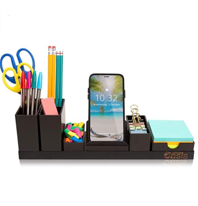 Desk Organizer with Adjustable Pen Holder