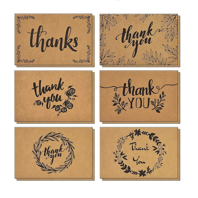 T&M Quality Designs Thank You Cards