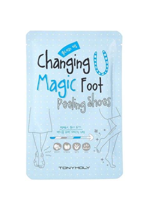TonyMoly che cambia le scarpe magiche della buccia del piede