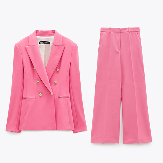 STYLECASTER | matching suit trend zara 2020
