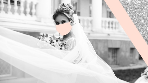 These Bridal Face Masks Are Actually Gorgeous Wedding Day Accessories | StyleCaster