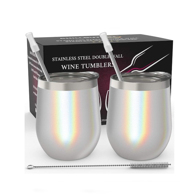 CHILLOUT LIFE Stainless Steel Stemless Wine Tumbler